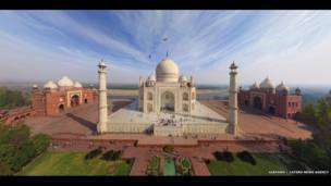 Taj Mahal, India. AirPano, a través de Caters News Agency.