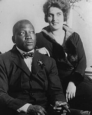 Jack Jonhson y esposa