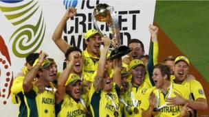विश्प कप उठाई टीम ऑस्ट्रेलिया