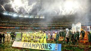 जीत के बाद ऑस्ट्रेलिया का मेलबर्न क्रिकेट ग्राउंड