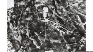 Construção de Brasília, 1957. Geofoto. Arquivo Publico do Distrito Federal