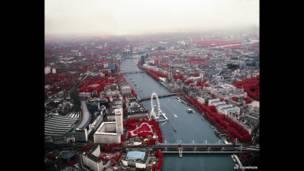 Город. Исследование уровня загрязнения #7. Темза. 2014.