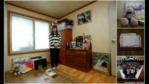 Fotógrafo registra quartos que pertenciam a estudantes que morreram em balsa que afundou com cerca de 500 pessoas há um ano (Kim Hong-Ji)