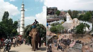 دہراہرا ٹاور، کھٹمنڈو: 27 اکتوبر 1998 اور 26 اپریل 2015
