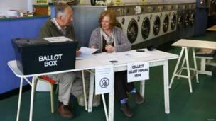 洗衣店投票站