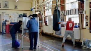 拳击中心投票站