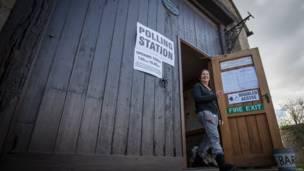 谷仓投票站
