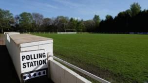 足球场投票站