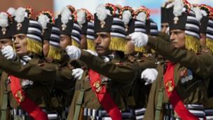 Офицеры индийской армии на Красной площади