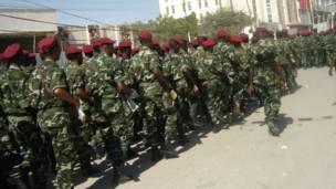 Miliitariga Somaliland oo ka qaybgalaya dabaaldegga