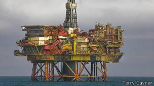 Plataforma petrolera Bren Delta de Shell, en el Mar del Norte