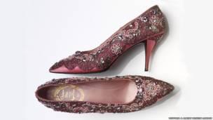 حذاء سهرة، من الحرير والجلد، فرنسا 1958، كريستيان ديور1960