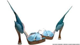 """حذاء """"الببغاء""""، كارولين غروفز، إنجلترا 2014"""