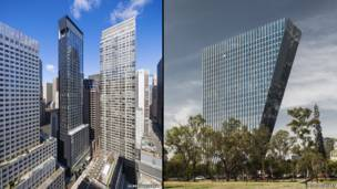 Composite image of the America's finalist buildings