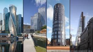 Composite image of the European finalist buildings
