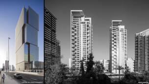صورة مركبة لمباني الدور النهائي في فئة الشرق الأوسط وأفريقيا