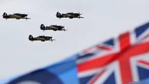صورة تذكارية لمعركة بريطانيا، احتفالا بالذكرى الـ 75 على مرور المعركة الجوية الكبرى. حقوق النشر محفوظة للتاج الملكي البريطاني 2015