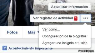 Captura de pantalla de Facebook