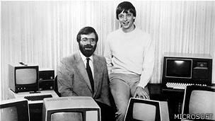 Los cofundadores de Microsoft, Paul Allen (izquierda) y Bill Gates. Foto cortesía de Microsoft.