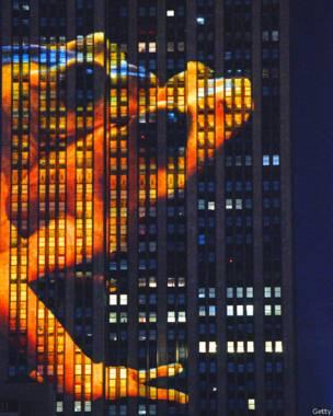 نیویارک کی ایمپائر سٹیٹ بلڈنگ پر تصویری نمائش