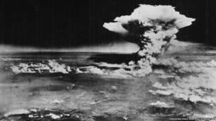 سحابة الانفجار الذري على مدينة هيروشيما