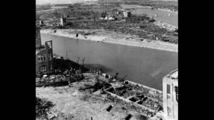 قنبلة هيروشيما، مشهد بعد إلقاء القنبلة.