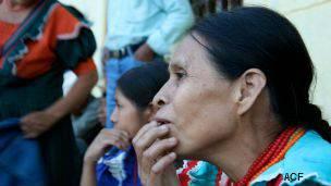 Mujer en el corredor seco de Guatemala. Foto: cortesía Acción contra el Hambre.