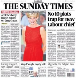 Portada de The Sunday Times