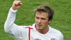 David Beckham capitán de la selección inglesa de fútbol