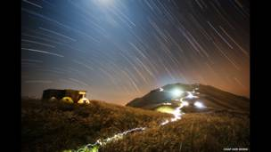 Sunset Peak Star Trail by Chap Him Wong (People and Space, Winner)