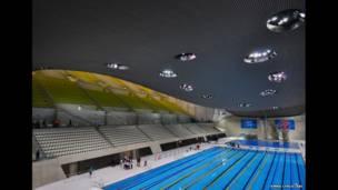 Ginin London Aquatics Center, hoton da wakiliyar BBC Emma Lynch ta dauka.