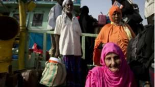 'Yan Somaliya na gudowa daga Yemen.