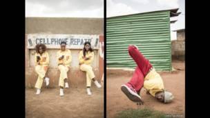 Hoton wata ra da ake yi Afrika ta kudu na Pantsula da Chris Saunders ya dauka