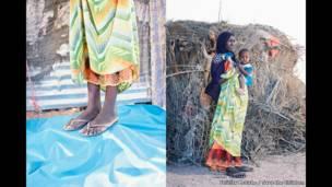 Roda 'yar shekara 18 da 'yarta mai watanni 13 daga wani gari kusa da Gargara a yankin Awdal da ke kasar Somaliland.