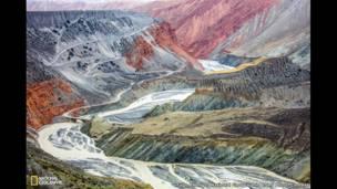 """""""الرسم السريالي في الطبيعة""""، تصو ير توغو شينغ."""