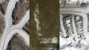 Национальный парк Сирмилик в Понд-Инлет в Канаде. Снег на северо-востоке Соединенных Штатов. NASA