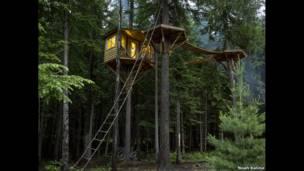 Tree-house by Ethan Schlussler - Sandpoint, Idaho, USA. Noah Kalina