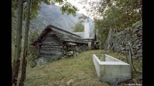 Stone building in Linescio, Switzerland - renovated in 2011 by Buchner Brundler Architekten. Ruedi Walti