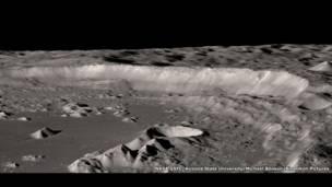 चांद के दक्षिणी ध्रुव के नजदीक मौजूद एन्टोनीआडी क्रेटर