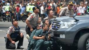 इंडोनेशिया, जकार्ता, धमाके
