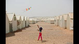 Child in refugee camp by Amy Smyth