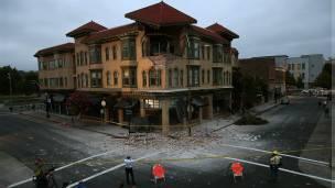 El sistema ShakeAlert se utilizó para advertir del temblor South Napa en California, en 2014.