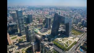 مقر مبنى التلفزيون المركزي الصيني في بكين