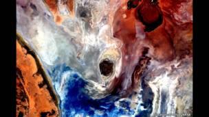 صورة للأرض من المحطة الفضائية الدولية