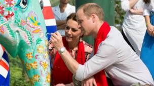 Герцог и герцогиня Кембриджские в заповеднике Казиранга