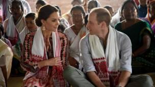 Герцог и герцогиня Кембриджские в штате Ассам