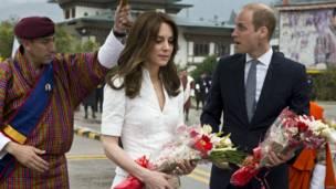 Герцог и герцогиня Кембриджские покидают королевство Бутан