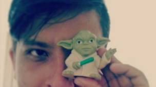 Rubén Alviri con Yoda