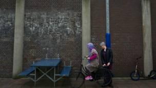 'Yan gudun hijira a fursunana De Keopel da ke Netherlands