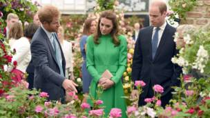 Принц Гарри и герцог и герцогиня Кембриджские